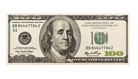 $100 recessie Royalty-vrije Stock Foto's