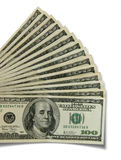 $100 Rechnungen stockfoto