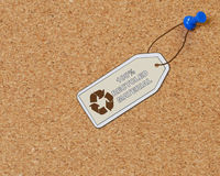 100% recicl o material Foto de Stock