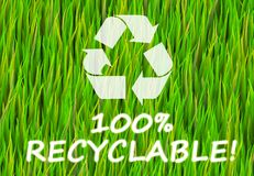 100% Recyclable. And Pure Now Abstract Background royalty free illustration