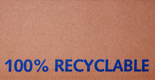 100% recyclable box Royalty Free Stock Photos