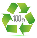 100% recycle illustration symbol Royalty Free Stock Photo