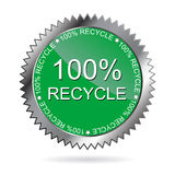 100% recycle label (vector). Design element: 100% recycle label vector illustration