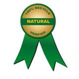 100% recycleren geverifi?ërd natuurlijk (vector) Royalty-vrije Stock Afbeelding