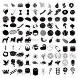 100 Reeks 3 van het pictogram Stock Foto