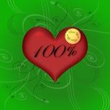 100% reine Liebe Lizenzfreie Stockfotos