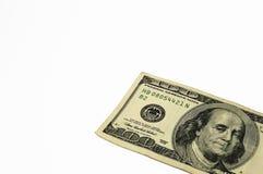 $ 100 rekening Amerikanen overdwars Royalty-vrije Stock Fotografie