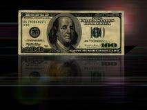 $100 rekeningsachtergrond Stock Afbeeldingen