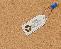 100% ricicla il materiale Fotografia Stock