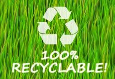 100% riciclabile Fotografia Stock