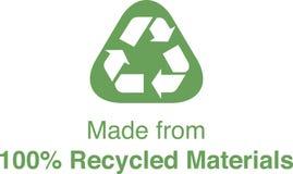 100% riciclato Fotografia Stock