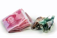 100 rmb yuan Arkivfoto