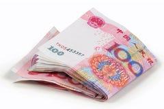 100 rmb yuan Royaltyfria Foton