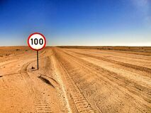 100 Road Sigange Royalty Free Stock Photo