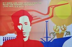 100 rocznicowych chi ho minh Vietnam rok Obraz Royalty Free