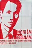 100 rocznicowych chi ho minh Vietnam rok Zdjęcia Stock