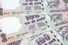 100 rupee notes Stock Images