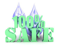 100% safe water Royalty Free Stock Photography