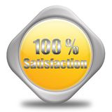 100% Satisfaction. 100% service & 3d computer generated Royalty Free Stock Photography