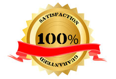100% Satisfaction. Guaranteed button on a white background Stock Illustration