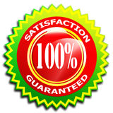 100% Satisfaction. Guaranteed symbol - Isolated on white Royalty Free Stock Photography