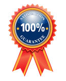 100% Satisfaction Guarantee. Label on white Royalty Free Stock Image
