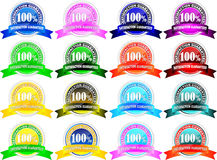 100% satisfaction guaranteed. Label in different colors Vector Illustration