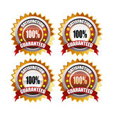 100% satisfaction guaranteed. Set of 100% satisfaction guaranteed lable Stock Illustration