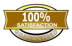 100% satisfaction guaranteed. Vector art of a seal 100% guaranteed Royalty Free Illustration