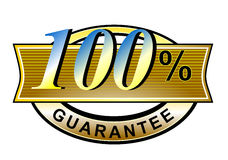 100% satisfaction guaranteed. Vector art of a belt 100% guaranteed Royalty Free Illustration