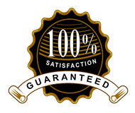 100% satisfaction guaranteed. Vector art of a seal 100% guaranteed Stock Photo