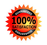 100% satisfaction guaranteed. Vector art of a seal 100% guaranteed Royalty Free Stock Photo