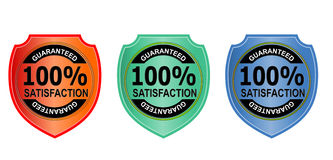 100% satisfaction guaranteed. Vector art of a 100% satisfaction guaranteed badge Royalty Free Illustration