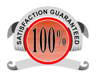 100% satisfaction guaranteed. Vector art of a 100% satisfaction guaranteed badge Vector Illustration
