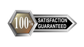 100% satisfaction guaranteed. Vector art of a 100% satisfaction guaranteed badge Stock Illustration