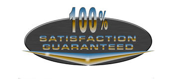 100% satisfaction guaranteed. Vector art of a 100% satisfaction guaranteed icon Vector Illustration