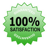 100% satisfaction guaranteed. Illustration of a business icon isolated on white Royalty Free Stock Photo