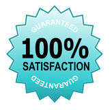 100% satisfaction guaranteed. Illustration of a business icon isolated on white Royalty Free Stock Photography