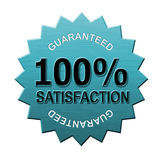 100% satisfaction guaranteed. Illustration of a business icon isolated on white Royalty Free Stock Image