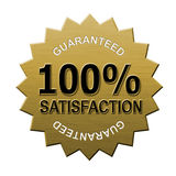 100% satisfaction guaranteed. Illustration of a business icon isolated on white Stock Photos