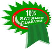 100% satisfaction guaranteed. Vector art of a 100% satisfaction guaranteed rosette Stock Illustration