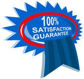 100% satisfaction guaranteed. Vector art of a 100% satisfaction guaranteed rosette Royalty Free Illustration