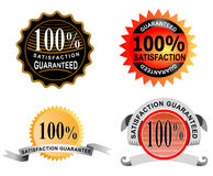 100% satisfaction guaranteed. Vector art on business icons isolated on white background Vector Illustration