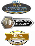 100% satisfaction guaranteed. Vector art on business icons isolated on white background Royalty Free Illustration