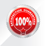 100% Satisfaction Guaranteed label. Satisfaction guaranteed icons for your business Royalty Free Stock Photos