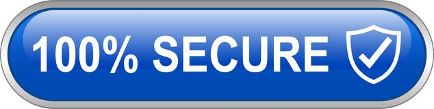 Free 100 Secure Web Button Stock Photo - 119020070