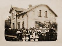 100 sedan år Fotografering för Bildbyråer