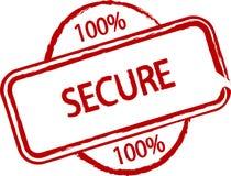 100% seguro Foto de Stock