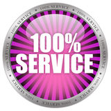 100 service. Seal isolated on white background stock illustration