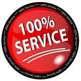 100% Service Button. Illustration of a 100% Service Button Stock Photo